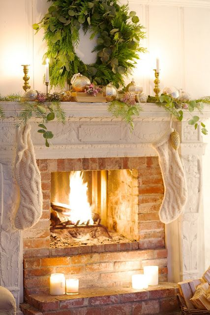 Simple French Country Christmas - FRENCH COUNTRY COTTAGE #stockings #neutralchristmas #whitechristmas #simplechristmas