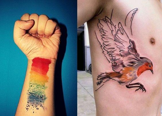Watercolor Tattoo, tatuagem aquarela, fotos de tatuagens, tatuagens 2015, tatuagens masculinas, blog de moda, moda masculina, estilo masculino, menswear, menstyle, fashion blogger, blogger, alex cursino, moda sem censura,