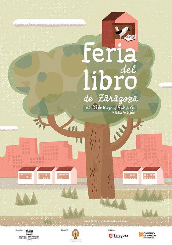 Cartel de la Feria del Libro de Zaragoza 2013: