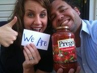 Cute way to tell friends and family you are pregnant.