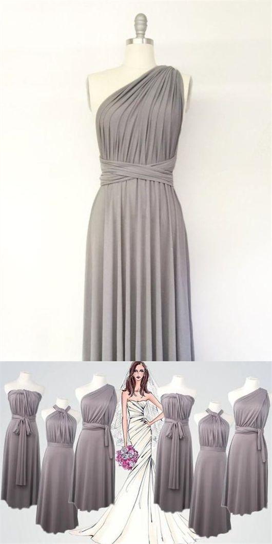 Light Grey Convertable Dress Multiway Infinity Bridesmaids Dress Dress Light Bridesmaids Infinity Grey Infinity Dress Bridesmaid Grey Short Dress Dresses