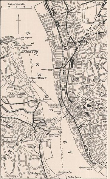 Liverpool Ferry Routes, 1911