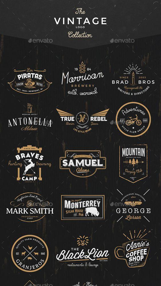 25 packs à découvrir pour réaliser un effet de logo vintage original