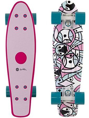 "Penny Pendleton Pink / Green Complete Skateboard Cruiser - 6"" x 22"""
