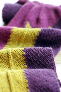 Mauve and Mustard Scarf