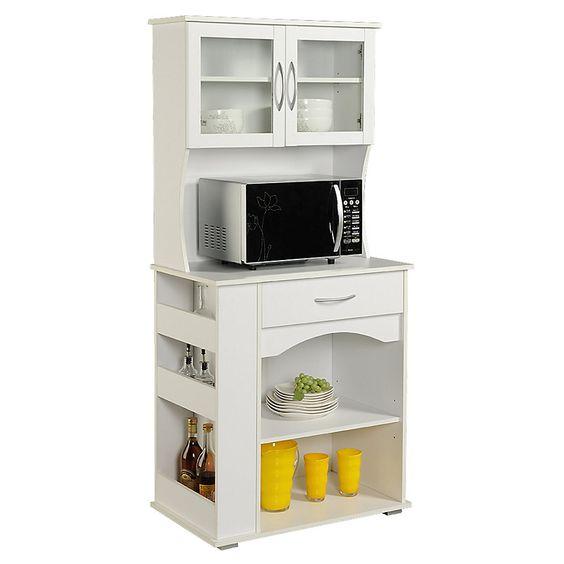 Homestar mueble para microondas alto 76 x 46 x 170 cm - Muebles auxiliares para microondas ...