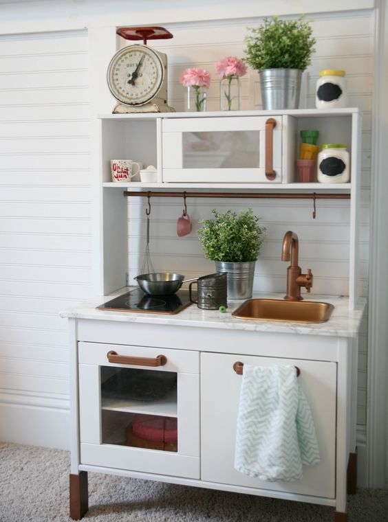 Ikea Duktig Play Kitchen Hack I Spray Painted The Kitchen: copper countertops cost