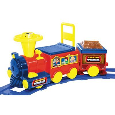 Kid Motorz Talking Train 6-Volt Ride-On with Track in Red & Blue - buybuyBaby.com