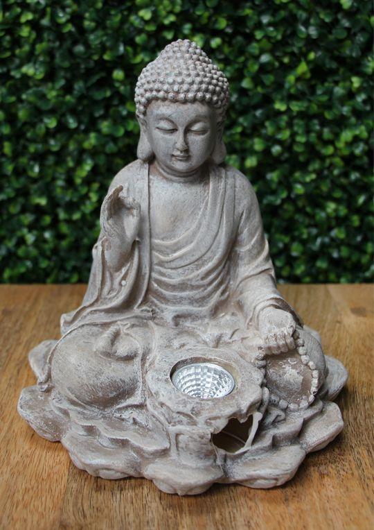 Maison & Garden - Solar sitting buddha garden ornament
