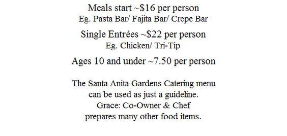 SAG Menu Prices