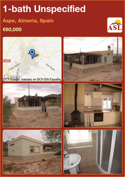1-bath Unspecified in Aspe, Almeria, Spain ►€60,000 #PropertyForSaleInSpain
