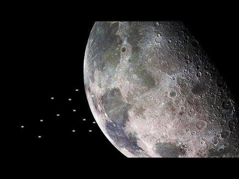Impactante Una Docena De Ovnis Saliendo De Una Base Lunar Fenomenos Paranormales Youtube Lunares