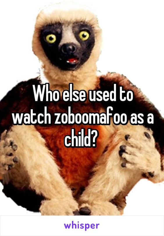 Who else used to watch zoboomafoo as a child?