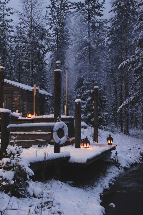 A cabin in Finland   The Brittains are Coming