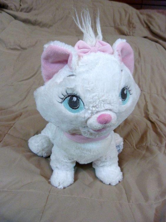 "Disney Store Marie Aristocats Plush White Cat Authentic Stuffed Animal 12"" #Disney"