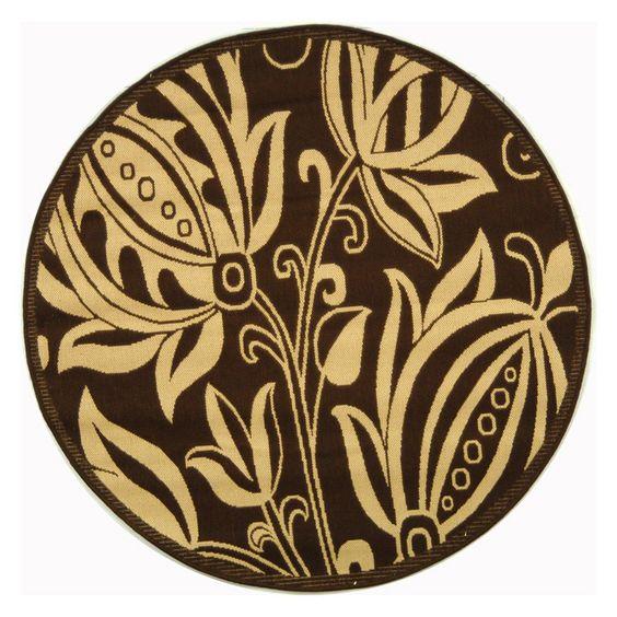 Safavieh Courtyard CY2961 Area Rug Chocolate/Natural - CY2961-3409-