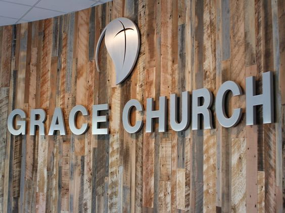 Natural satin aluminum church letters | WoodlandManufacturing.com