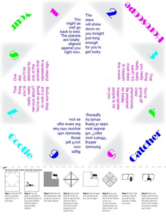 how to make a paper cootie catcher