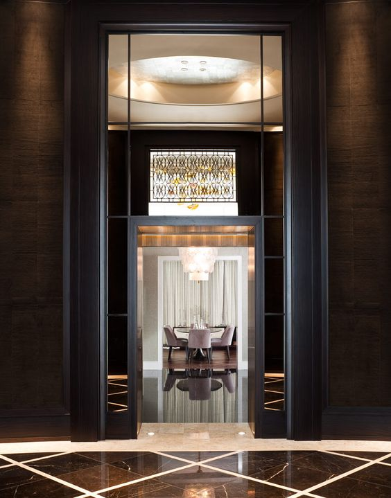 The residences at the ritz carlton toronto interior for Dining room entrance designs