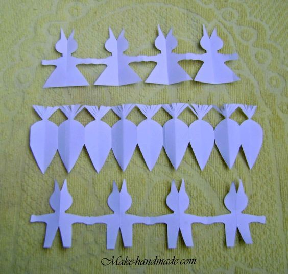 Easter paper crafts for kids: bunny & carrot garlands .. how to..