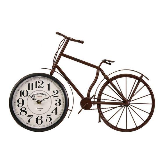 Higdon Bicycle Clock in Rustic Bronze  via wayfair.com