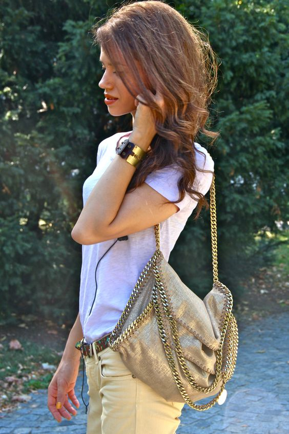 Stella McCartney Falabella bag in gold