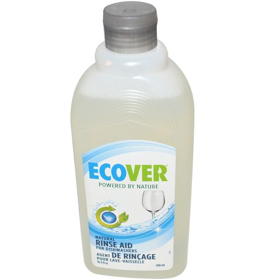 Ecover Natural Rinse Aid for Dishwashers - Fragrance-free. Suitable for septic tanks. Available @ Living and Eating Well (Sudbury, ON) #unscented #fragrancefree #scentfree