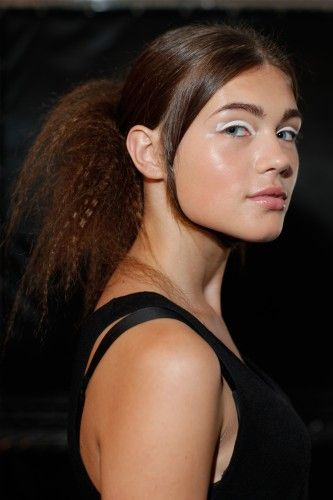 Valery K. rockin' the crimped hair look at A Détacher #crazyhair cc @refinery29