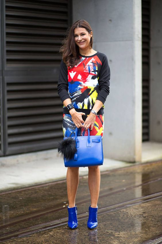 Azul cobalto, ideal para un día de lluvia! #Australia #FashionWeek #StreetStyle