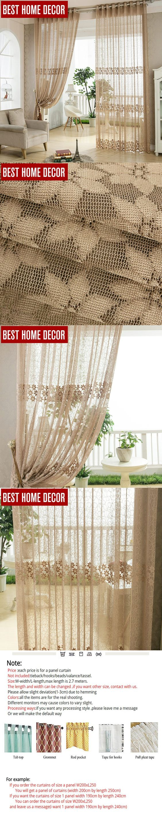 Sheer window curtains kitchen - Best Home Decor Tulle Sheer Window Curtains For Living Room The Bedroom Kitchen Modern Tulle Curtains