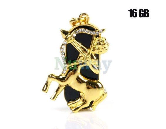 16G Gorgeous Sagittarius Design USB Flash Drive (Golden) | Nuway Shopping