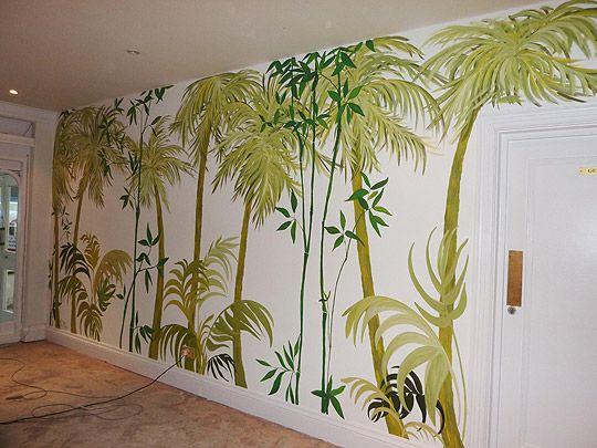 Palm Tree Wall Mural Jungle Wall Mural Tree Wall Painting Tree