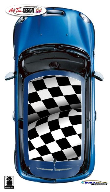 Roof Graphic Kits For Mini Cooper That Are Precut And Ready To - Bmw mini roof decals