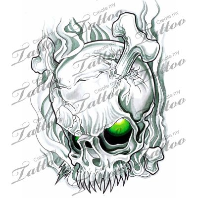 Marketplace Tattoo Skull smoke #3001 | CreateMyTattoo.com ...