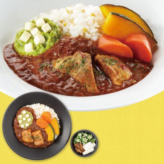 映画「体脂肪計 タニタの社員食堂」タイアップ弁当「アボカドとチーズのトマトカレー(590円)」♪アボカド大好き(^^)ゴロゴロのお野菜がしっかり入ってカロリーは392kcalです! http://www.lawson.co.jp/recommend/static/vplan/