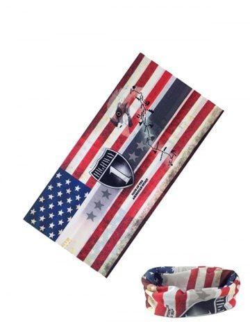Riding American Flag Print Circle Head Scarf Flag Prints American Flag American Flag Print