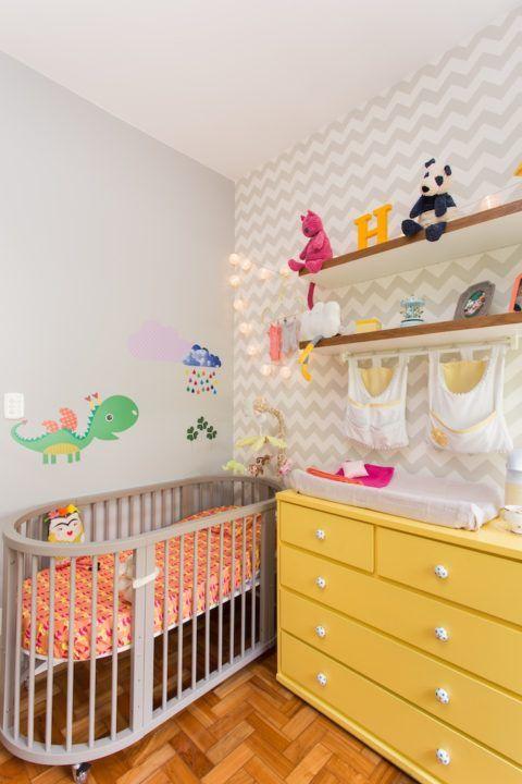 É pra bebês mas tem boas ideias. Adoro o cinza com amarelo: