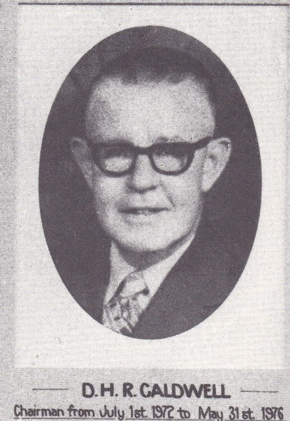 D.H.R. Caldwell, Chairman of the Toowoomba Permanent Building Society from July 1st, 1972 until May 31st 1976.