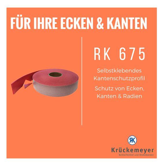 RK 675 selbstklebender Kantenschutz zum Schutz von empfindlichen Kanten, Ecken oder Radien sämtlicher Gegenstände! #Klebeband #Krueckemeyer #Adhesive #Tape #Produktschutz #Schutz #Ecken #Kante