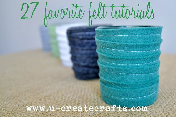 Tons of amazing felt tutorials in one place!