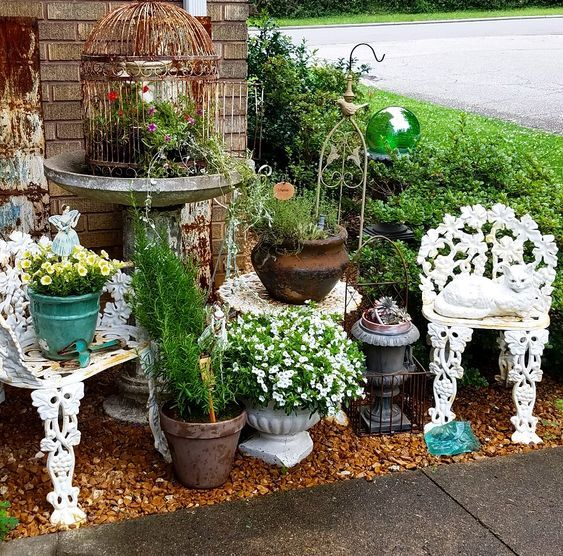 How To Add Vintage Style To Your Garden Using Thrifted Finds