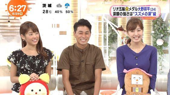 めざましテレビでの小澤陽子