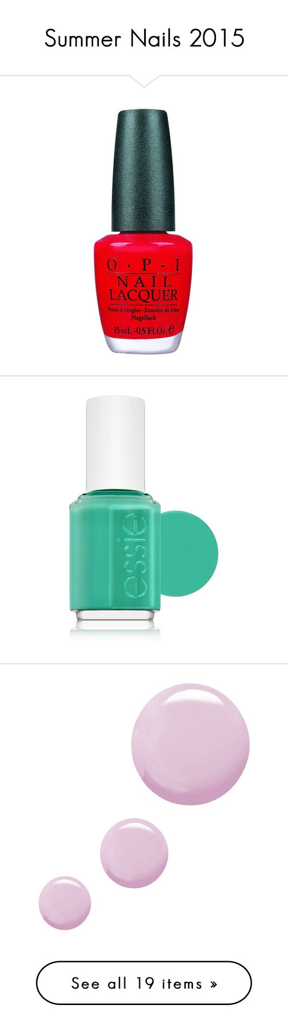 """""""Summer Nails 2015"""" by soguemoments ❤ liked on Polyvore"""