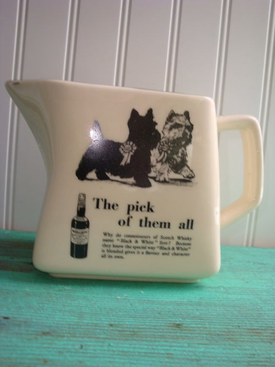Vintage Scottish Terrier Water Jug Black by thefarmerswifect, $18.00