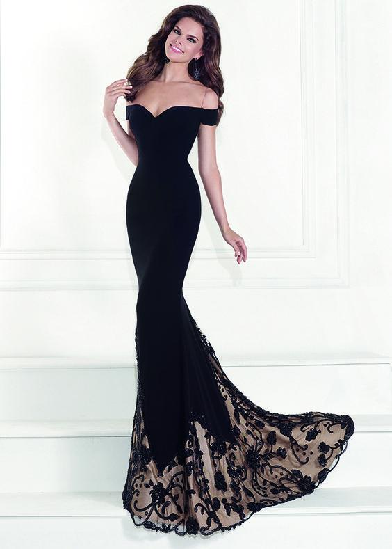 Tarik Ediz 92525 - Orva Black Off The Shoulder Prom Dresses Online
