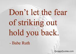 Afbeeldingsresultaat voor don't let fear hold you back