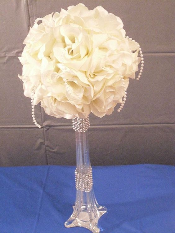 Wedding Centerpiece Banquet Flowers Reception Flower Centerpiece Tall Flowers Silk Flowers