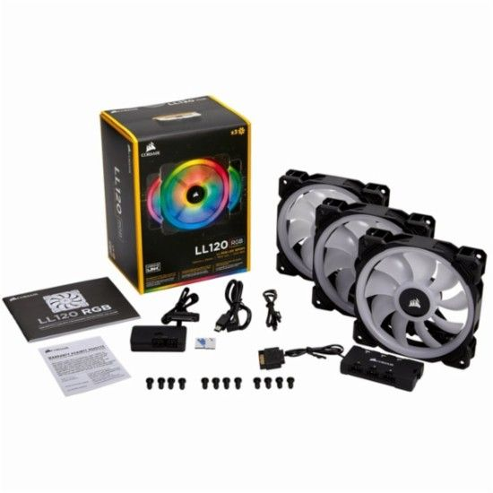 Corsair Ll Series 120mm Case Cooling Fan Kit With Rgb Lighting Co