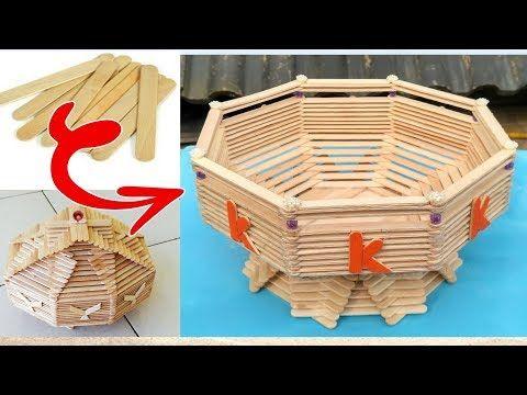 Diy How To Make Fruit Basket Popsicle Stick Crafts Ice Cream