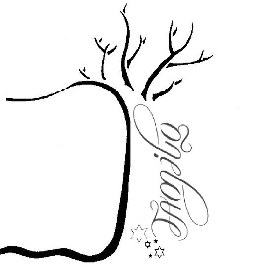 Family tattoo layout... Change the stars to a sun or a moon for the siblings...